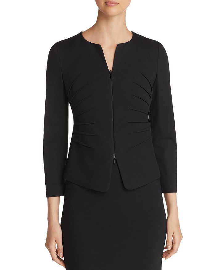 Armani - Ruched Cropped Jacket