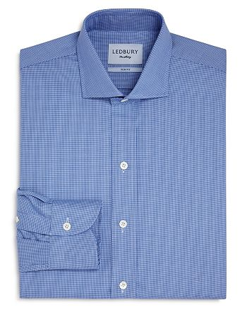 Ledbury - Easley Houndstooth Slim Fit Dress Shirt