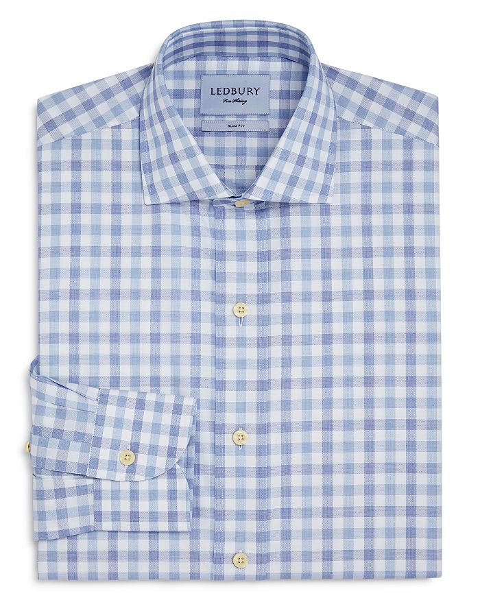 Ledbury - Gingham Slim Fit Dress Shirt