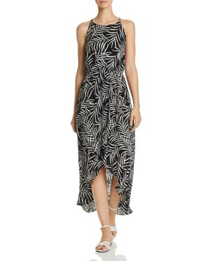 Aqua Palm Leaf High-Low Maxi Dress - 100% Exclusive 2999242