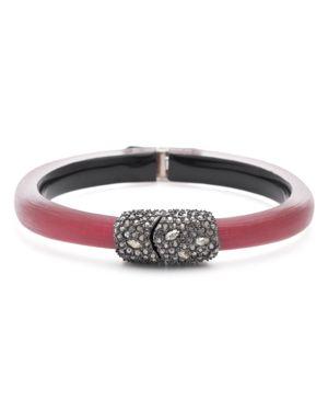 Alexis Bittar Crystal Cluster Hinged Bangle Bracelet
