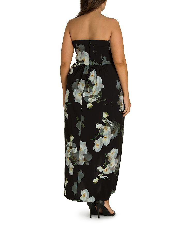 a3c9d7cc704 City Chic Plus - Orchid Dreams Strapless Maxi Dress