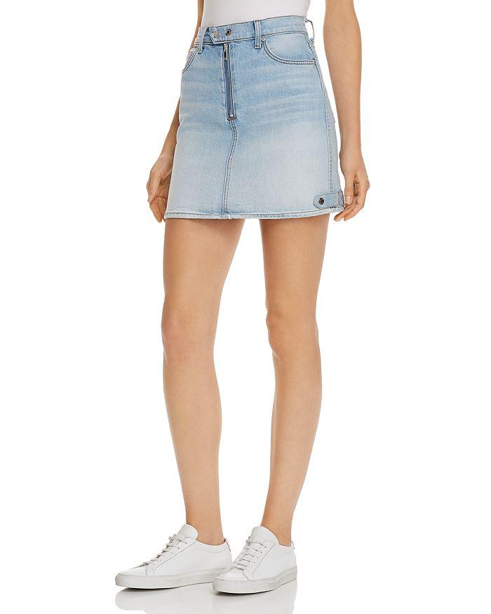 7 For All Mankind - Moto Denim Mini Skirt in Vintage Dawn