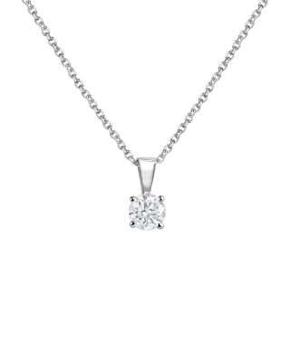 Diamond Solitaire Necklace In 14 K White Gold, 0.50 Ct. T.W.   100 Percents Exclusive by Bloomingdale's