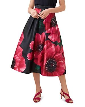 Hobbs London Hermione Floral Print Midi Skirt