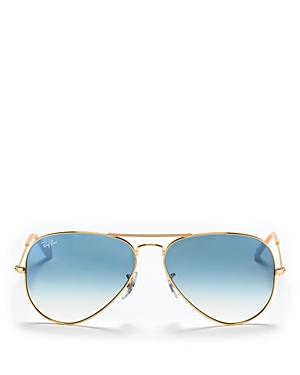 Ray-Ban Unisex Brow Bar Aviator Sunglasses, 58mm