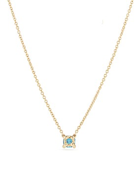 David Yurman - Châtelaine Kids Necklace with Hampton Blue Topaz in 18K Gold