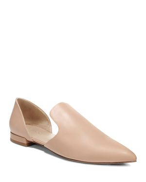 Women'S Damris Calf Leather D'Orsay Flats, Nude Siviglia Calf
