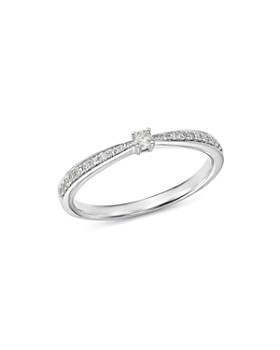 Bloomingdale's - Tapered Diamond & Pavé Ring in 14K White Gold, 0.17 ct. t.w. - 100% Exclusive