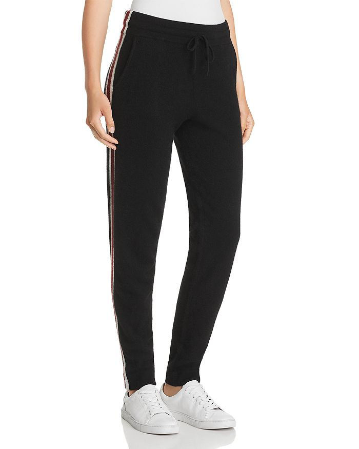 C by Bloomingdale's - Varsity Striped Cashmere Jogger Pants - 100% Exclusive