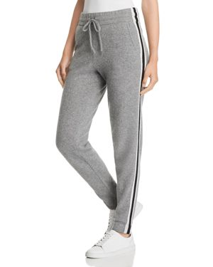 C by Bloomingdale's Varsity Striped Cashmere Jogger Pants - 100% Exclusive