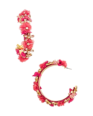 Baublebar Esme Floral Hoop Earrings