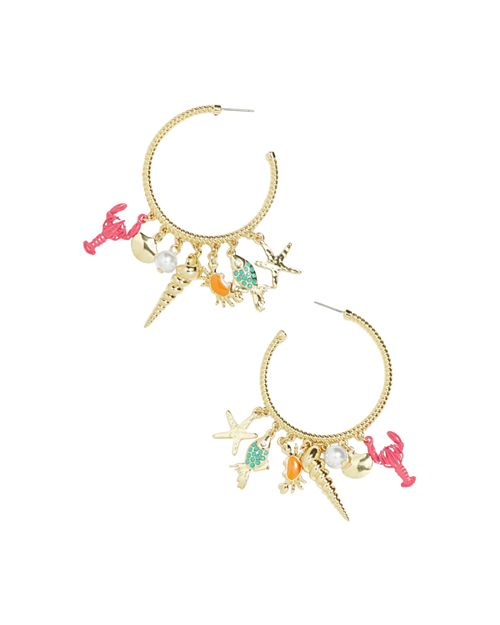 BAUBLEBAR - Under Sea Charm Hoop Earrings