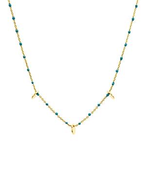 Argento Vivo Enamel & Disc Necklace, 14