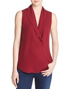 Theory - Shawl Collar Silk Top