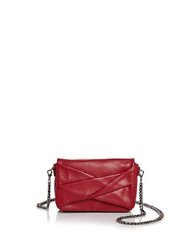 a1e9110bb0 HALSTON HERITAGE - Grace Small Bow Convertible Leather Crossbody ...