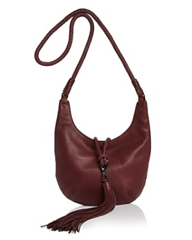 HALSTON HERITAGE - Elsa Small Nubuck Leather Hobo Crossbody ... 8731306387ce8