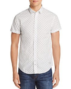 Scotch & Soda Diamond-Print Short-Sleeve Slim Fit Shirt - Bloomingdale's_0