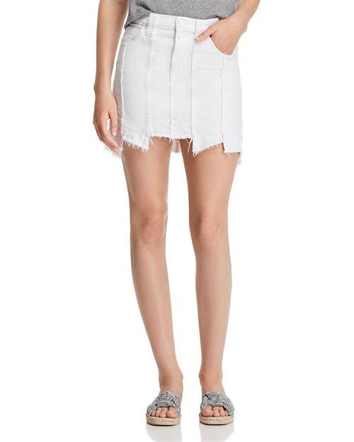 Hudson - Weekender Paneled Denim Skirt in White