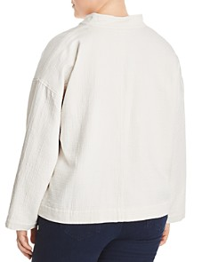 Eileen Fisher Plus - Textured Stand-Collar Jacket