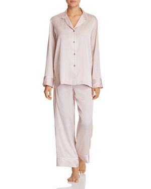 Labyrinth Satin Pajamas, Rose Beige