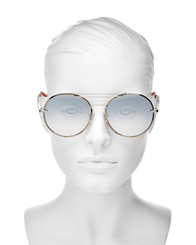rag & bone - Women's Brow Bar Round Sunglasses, 59mm