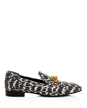 Tory Burch - Women's Jessa Snakeskin Loafers