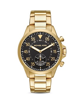 Michael Kors - Access Gage Gold-Tone Hybrid Smartwatch, 45mm