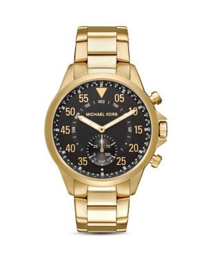 MICHAEL KORS ACCESS Access Gage Gold-Tone Hybrid Smartwatch, 45Mm in Gold/ Black/ Gold