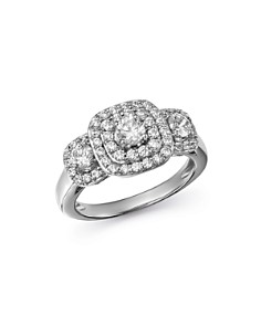 Bloomingdale's - Diamond Halo Ring in 14K White Gold, 1.0 ct. t.w - 100% Exclusive
