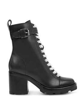 Marc Fisher LTD. - Women's Waren Round Toe Lace Up Leather Boots