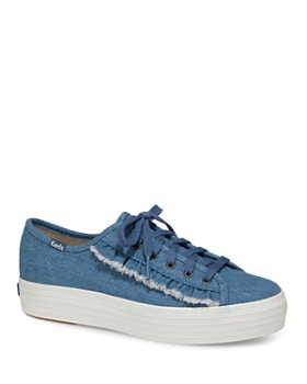 Keds - Women's Ruffle Triple Kick Canvas Lace Up Sneakers