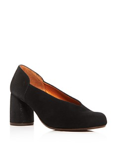 Chie Mihara - Women's Ante Amazon Suede & Embossed Leather Block-Heel