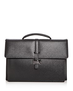 Montblanc - Double Gusset Embossed Leather Briefcase