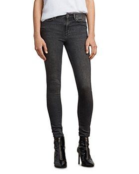 ALLSAINTS - Grace Skinny Jeans in Washed Black