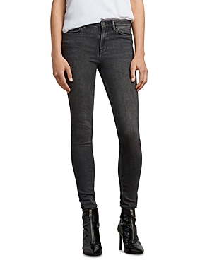 Allsaints Grace Skinny Jeans in Washed Black