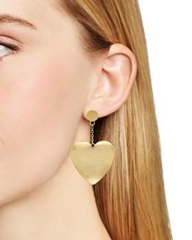 Rebecca Minkoff - Sadie Curved Heart Drop Earrings