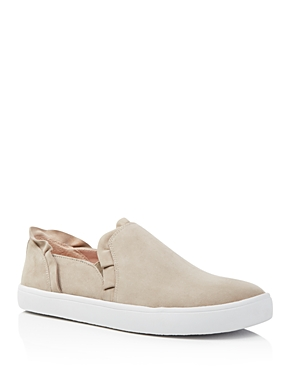kate spade new york Women's Lilly Suede Ruffle Slip-On Sneakers