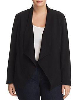 MICHAEL Michael Kors Plus - Draped Open-Front Jacket