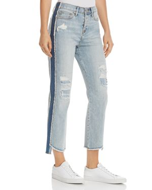 True Religion High Rise Starr Crop Straight Jeans in Tumbled Fossil 2904534
