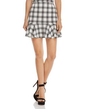 Aqua Flounce-Hem Plaid Skirt - 100% Exclusive