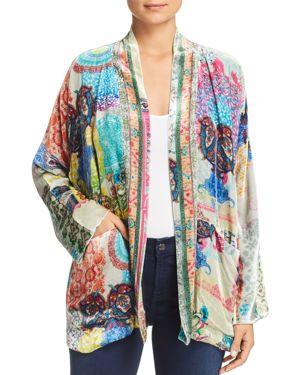 Johnny Was Collection Gigi Printed Velvet Kimono