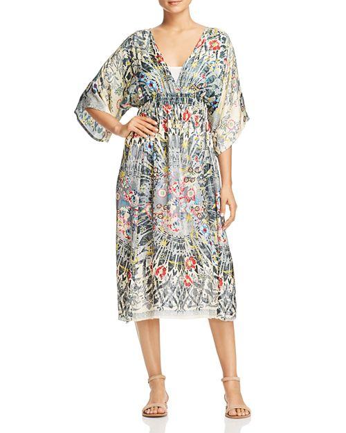 Johnny Was - Fran Printed Silk Midi Dress