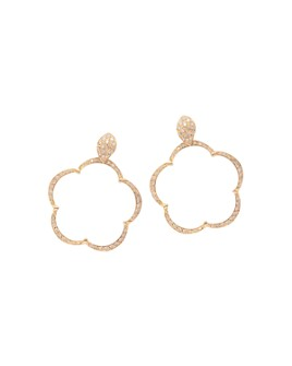 Pasquale Bruni - 18K Rose Gold Bon Ton Ton Joli Diamond & Champagne Diamond Floral Earrings