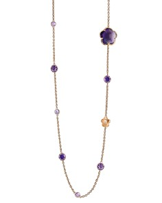 "Pasquale Bruni 18K Rose Gold Bon Ton Amethyst & Diamond Floral Station Necklace, 39.5"" - Bloomingdale's_0"