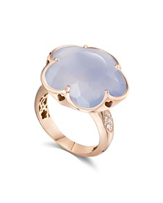 Pasquale Bruni 18K Rose Gold Bon Ton Light Blue Chalcedony & Diamond Floral Ring - Bloomingdale's_0