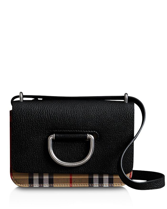 604b1e3db Burberry Mini D-Ring Leather Crossbody | Bloomingdale's