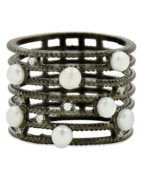 Freida Rothman - Cultured Freshwater Pearl Textured Cage Ring