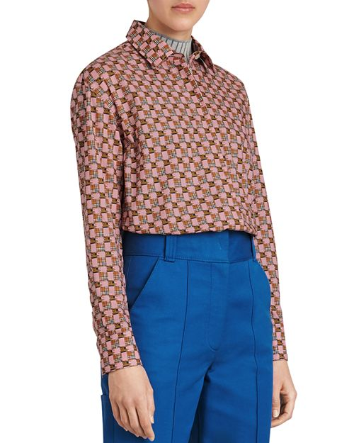 Burberry - Kestrel Printed Button-Down Top