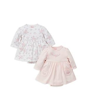 Little Me Girls' Rose-Print Bodysuit Dresses, Set of 2 - Baby